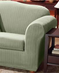 Sure Fit Slipcovers For Sofas by Sure Fit Slipcovers Form Fit Stretch Stripe 2piece Chair Slipcover