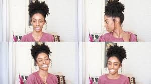 hairstyle tutorials for medium length hair fancy puff easy u0026 simple 4c natural hairstyles for short medium