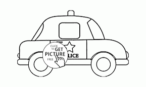 police car coloring page for toddlers transportation coloring