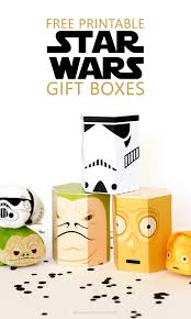 these free star wars printable gift boxes are perfect for the star