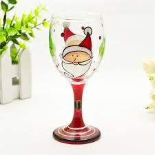 christmas colored stem wine glass cheap colored wine glasses