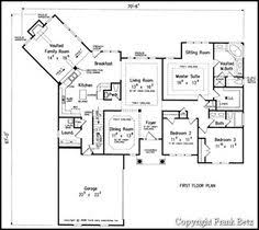 one story floor plans one story ranch house master on one side bedrooms on the other