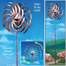 Garden Spinners And Decor Solar Lighted Double Pinwheel Wind Spinner Wind Spinners And Craft