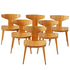Pine Dining Chair Six Dining Chairs By Jacob Kielland Brandt In Solid Pine For Sale