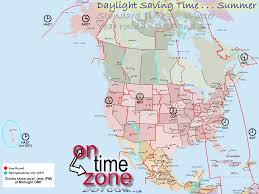 North America Map by Ontimezone Com Time Zones For The Usa And North America