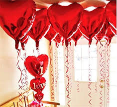 valentines ballons ximkee 18 inch heart foil helium balloons 10 pk