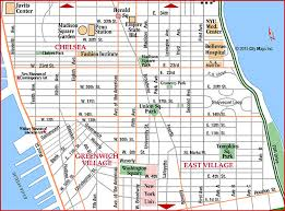 map of new york and manhattan road map of lower manhattan greenwich chelsea manhattan