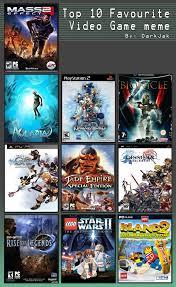 Top 10 Video Game Memes - joey245 s 10 best games meme by joey245 on deviantart