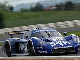 blue maserati racing dark blue maserati mс12 racing on a line cars lilac