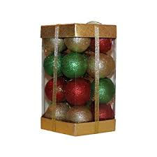 28 count glitter ornaments boxed set