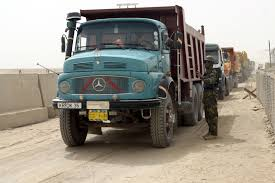 mercedes truck wiki file mercedes trucks in fallujah jpg wikimedia commons