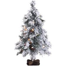 Home Depot Christmas Tree Lights - fraser hill farm 2 ft pre lit snowy alpine artificial christmas