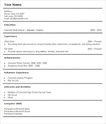 Best Internship Resume by Resume Example For Students Example Of Resume For High