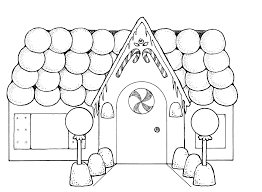 house outline gingerbread house clipart black and white clipartxtras