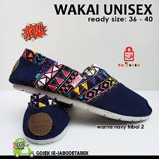 Sepatu Wakai sepatu wakai navy tribal 2 tokobelibeli