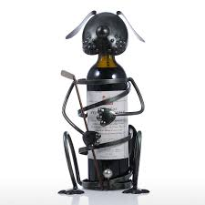 best and cheap black puppy wine rack with golf iron animal