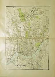 Map Of Cincinnati Prints Old U0026 Rare Cincinnati Ohio Page