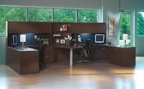 2 Person Computer Desk The Office Leader Transitional Lamimate Mayline Aberdeen 2 Person