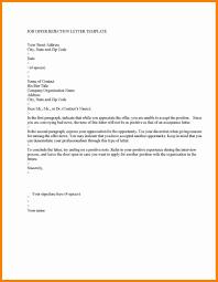 sle letter decline letter after offer 28 images sle decline offer letter