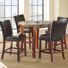 rent to own dining room tables steve silver montibello 5 piece counter height pub dining group
