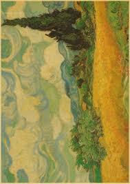 famous painter painting posters nostalgic retro painting kraft
