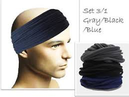 sports hair bands mens headbands sports sweatband wide men hair band wrap