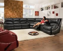 Black Sectional Sleeper Sofa by Elegant Black Sectional Sofa With Recliners 74 With Additional