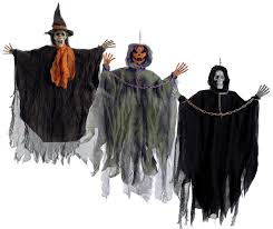 scary hanging figure witch skeleton haunted mansion decoration