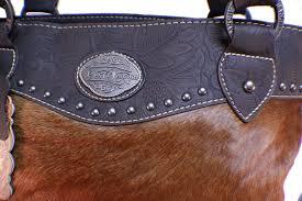 Cowhide Leather Purses Montana Trail Trinity Ranch Montana West Leather Purse Cowhide