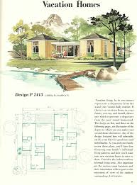 vacation house plans vintage 1960s midcentury family vacation house plans unique