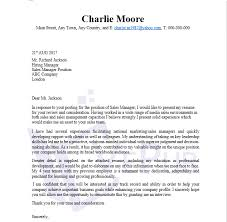 sales director cover letter sales manager example free template