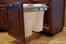 kitchen cabinet garbage can kitchen cabinet trash pull out zhis me