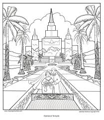 temples drawing on symbols lds mormon coloring book belinda