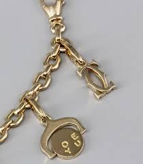 cartier bracelet charm images Cartier ten charm gold bracelet for sale at 1stdibs jpg