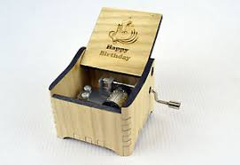 Personalized Music Box Happy Birthday Personalized Hand Crank Wooden Music Box Ebay