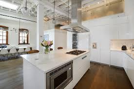 hotte cuisine ilot greenwich penthouse loft à york hotte aspirante