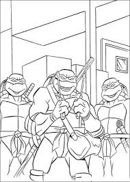 teenage mutant ninja turtles coloring page free printable