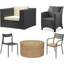 Modern Wicker Patio Furniture Modern Wicker Chairs And Mesh Patio Chairs Polyvore