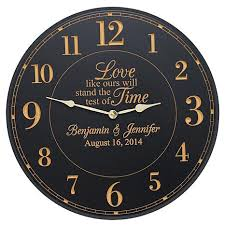 personalized wedding clocks personal creations personalized test of time wedding clock