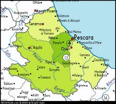 provinces of italy map a detailed map of abruzzo italy
