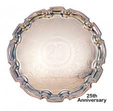25th anniversary plates chippendale 25th anniversary tray 32cm tarnish