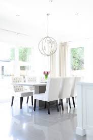 White Tufted Dining Chairs Gray Pedestal Dining Table With White Tufted Dining Chairs