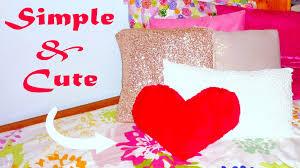 Fabric Heart Decorations Diy Room Decor No Sew Heart Pillow Youtube