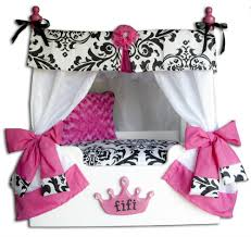 pink bella canopy dog bed personalized dog bed