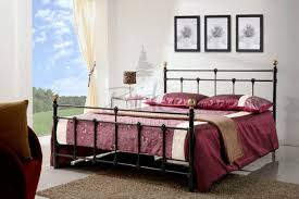 birlea atlas bed frame 4ft small double black metal bed frame