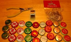 beer cap ornaments laura makes
