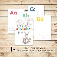 4x6 photo book alphabet baby shower diy abc book 4x6 baby s