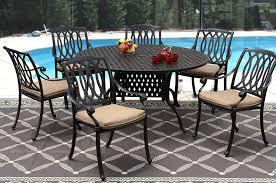 60 Inch Patio Table San Marcos Cast Aluminum Outdoor Patio 7pc Set 60 Inch