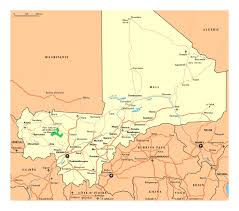 Mali Africa Map by Detailed Map Of Mali With Roads Cities National Parks And