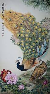 exquisite beauty chinese pea painting